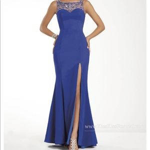 Royal Blue Abby Paige #P3907 Mermaid Gown.